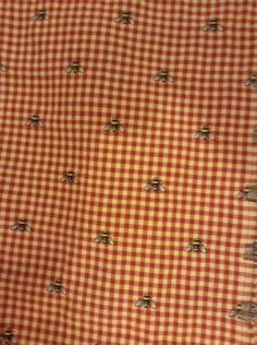 French Country Embroidery Waverly Check Bee Fabric