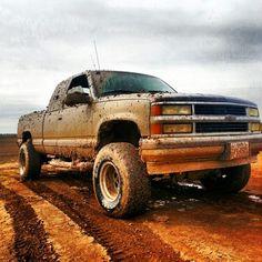 My 95 z71 chevy silverado getting a little muddy