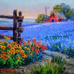Landscape paintings acrylic farm New Ideas Pictures To Paint, Art Pictures, Landscape Art, Landscape Paintings, Oil Paintings, Beautiful Paintings, Painting Techniques, Painting Inspiration, Watercolor Art