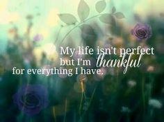 My life isn't perfect