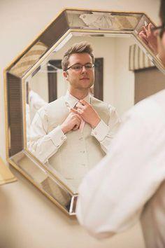 Groom, getting ready, wedding