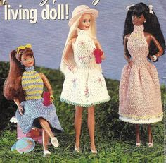 Vintage Knitting Pattern for a Barbie fashion doll dress - pattern on Etsy