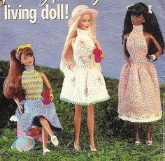 Vintage Knitting Pattern for a Barbie fashion doll dress - pattern on Etsy