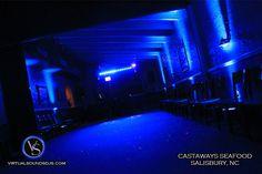 Blue Uplighting and Dance Floor Wash