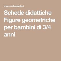 Schede didattiche Figure geometriche per bambini di 3/4 anni 3, Figurative