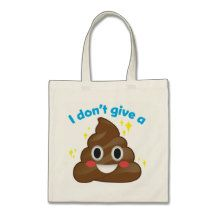 I Don't Give a Happy Poop Sparkle Emoji Tote Budget Tote Bag