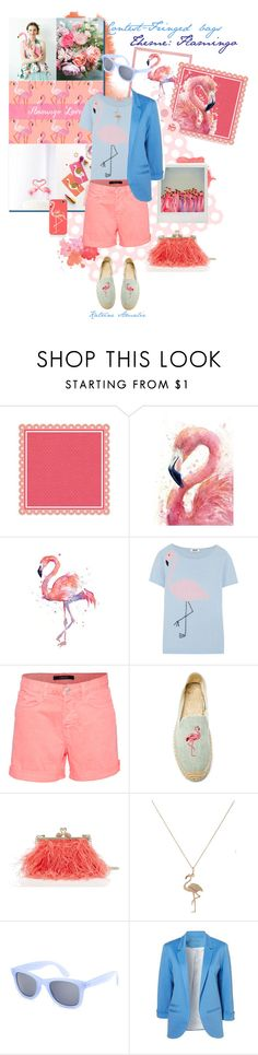 """FLAMINGO"" by katrine-amalie ❤ liked on Polyvore featuring Holga, Moschino Cheap & Chic, J Brand, Soludos, Kate Spade, Bianca Pratt, Full Tilt, contest, fringe and bag"