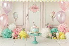 Birthday Cake Smash, ice cream shop theme