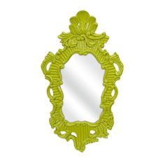 Brighten up a wall with this Neo Baroque Mirror. A vibrant green frame and unique design give spaces character and a punch of color and personality. You'll find it hard not to reflect your best, happy ...  Find the Neo Baroque Wall Mirror, as seen in the Bohemian Sanctuary Collection at http://dotandbo.com/collections/bohemian-sanctuary?utm_source=pinterest&utm_medium=organic&db_sku=IMX0311