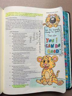 Jeremiah Bible Journaling ESV Micron Pens And Polychromos Pencils