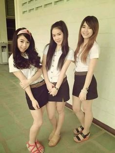 My friends in a class.Thai university Uniform.
