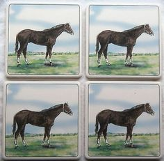 Barlow ArtStone Coasters Absorbent Horse Thoroughbred