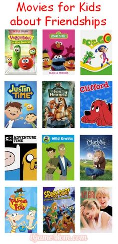 Educational movies for kids about friendships, great for kids movie nights, kids movie parties, or sleepover parties