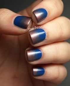 Blue and bronze; the most fabulous ombré I've ever seen!