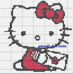 Gratis Hello Kitty kruissteek borduur patronen - Hobby
