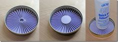 Place rosette inside a ring to maintain perfect circle.  Use hot glue in center.