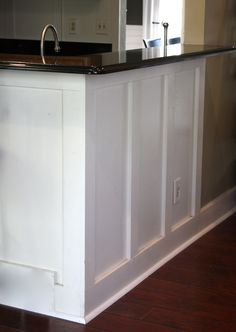 from builder grade to this for less than $100   The Yellow Cape Cod: 31 Days of Character Building: Builder Bar Gets a Custom Look