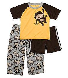 Carter Toddler 3-Piece Monkey Pajama Set | Dillards.com