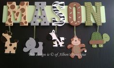 6 LETTER NAME  Custom Jungle Zoo Safari Themed por AlbonsBoutique, $65.00