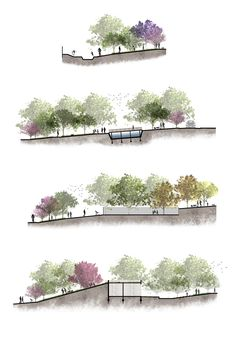 (Spatial Multiplicity - Natalia Nery) - hashtags} - Source by ranakoca Architecture Panel, Cultural Architecture, Architecture Graphics, Concept Architecture, Architecture Drawings, Landscape Architecture, Architecture Design, Landscape Model, Landscape Drawings