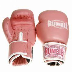 Rumble Store Holland | Bokshandschoen Rumble Ready Leer Roze