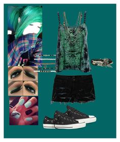 """Feeling Green"" by therealzkrysty ❤ liked on Polyvore featuring Dolce&Gabbana, Converse, Wet Seal, Summer, GREEN and converse"