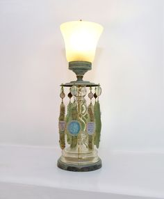 Handmade Awakened Heart – Table Lamp Made From Vintage Fixture by Templemouse Lampworks | CustomMade.com