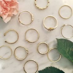 Delicate rings designed by Lauren Conrad for her Kohl's collection