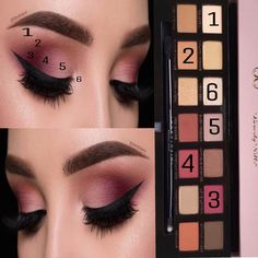 Simple eyeshadow look using Modern renaissance palette #glammakeuplooks #eyeshadowstutorial