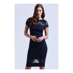 Paper Dolls Navy Lace Insert Bodycon Dress - Paper Dolls from
