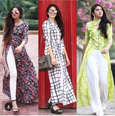 open dress with jeans-Mix and match summer casual wear – Just Trendy Girls Summer Dresses For Women, Trendy Dresses, Cute Dresses, Trendy Outfits, Casual Dresses, Fashion Dresses, Kurta Designs, Kurti Designs Party Wear, Indian Attire