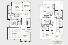 Diseño y planos de casas de dos pisos con ideas para construcción   Construye Hogar