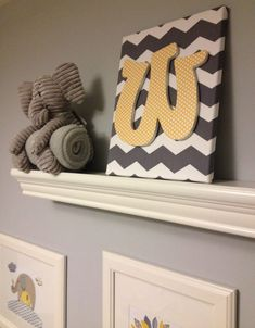 DIY Nursery Art - #grayandyellow