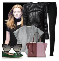"""""""Nov 7,Paris,2:50pm: Madison is off to New York."""" by life-and-style-of-madison-carter ❤ liked on Polyvore featuring Gucci, Versus, Alexander Wang, STELLA McCARTNEY, Fendi, Chanel and Tory Burch"""