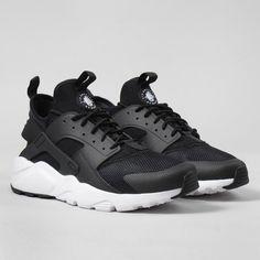 Nike Air Huarache Ultra Shoes - Black/White
