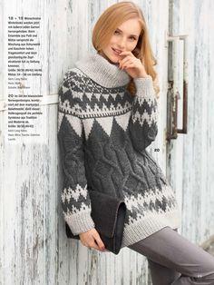 Чёрно - белый свитер с жаккардом. Обсуждение на LiveInternet - Российский Сервис Онлайн-Дневников
