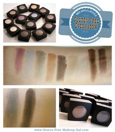 Red Apple Lipstick's Gluten Free Eyeshadows.  Fabulous products that also happen to be ON SALE NOW!