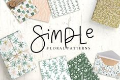 Simple Floral Patterns @creativework247