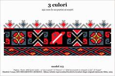 Romanian 3 colour motifs - Fagaras 1905