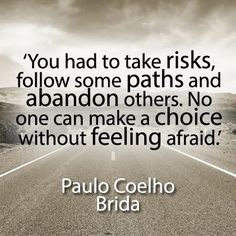 'You had to take risks, follow some paths and abandon others. No one can make a choice without feeling afraid.' - Poulo Coelho  For more inspiration and ultimate life visit our website ==>> www.GhramaeJohnson.com.   #lifecoach #confidenceboostvideo #lifestyleblogger #successfullife #happiness #coach #coaching #lifemastery #successquotes #fear #successmindset #happy #gratitude #confidence #heal #hustle #selfimprovement #confidence #phychotherapy #inspiration #decision #GhramaeJohnson