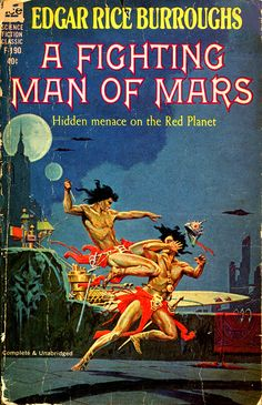 A Fighting Man of Mars by Edgar Rice Burroughs is the seventh of his famous Barsoom series. Burroughs began writing it on February 28, 1929, and the finished story was first published in Blue Book Magazine as a six-part serial in the issues for April to September, 1930