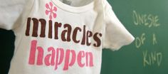 Baby Girl Onesie Miracles Happen New Baby Girl Shirt Girl Baby Clothes on Etsy, $20.00