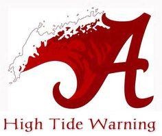 Oh yeah Roll Tide Roll! Roll Tide Alabama, Roll Tide Football, Alabama Crimson Tide Logo, Alabama Vs, Crimson Tide Football, University Of Alabama Logo, State University, Alabama Room, Alabama Baby
