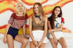 Models look ready for festival season in Urban Outfitters new lookbook.