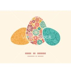 Abstract decorative circles three matching easter eggs vector by Oksancia on VectorStock®