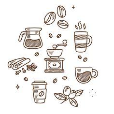 Coffee doodles - Coffee Icon - Ideas of Coffee Icon - Coffee doodles by Irina Mir Coffee Icon, Coffee Love, Coffee Art, Coffee Study, Coffee Poster, Espresso Coffee, Black Coffee, Coffee Maker, Icon Design