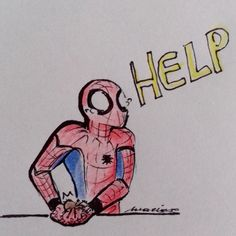 Even Spider-Man is scared of spiders by @miranhas-art