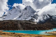 Ama Dablam And Lake Nepal
