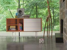 Madia componibile in legno con cassetti CODE | Madia con cassetti by Dall'Agnese