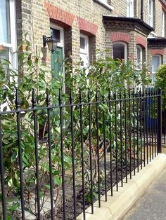 york stone wrought iron rails black and red terracota quarry mosaic victorian tiles camberwell london south east london House Front, Front Porch, Camberwell London, Victorian Mosaic Tile, Garden Railings, York Stone, Kerb Appeal, Folk Victorian, Metal Railings